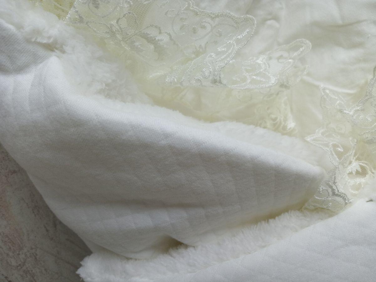 Ткань капитон с мехом, цвет белый